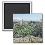 View of the Palace of the Alhambra 2 Inch Square Magnet