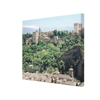 View of the Palace of the Alhambra Stretched Canvas Prints