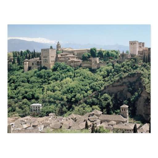 View of the Palace of the Alhambra Postcard