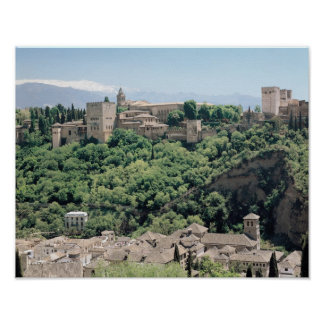 View of the Palace of the Alhambra Print