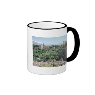 View of the Palace of the Alhambra Ringer Mug