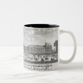 View of the Palais des Tuileries from gardens Two-Tone Coffee Mug