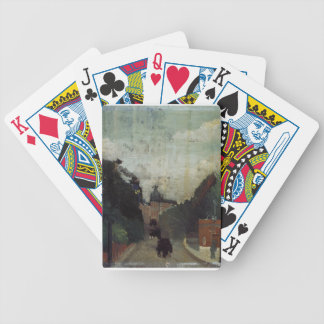 View of the Palais du Metropolitan by Henri Rousse Bicycle Playing Cards