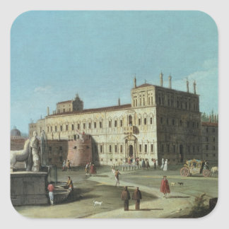 View of the Palazzo del Quirinale, Rome Square Sticker