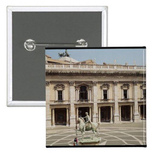 View of the Palazzo Nuovo 2 Inch Square Button