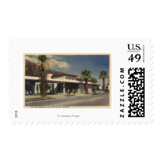 View of the Palm Springs Hotel Postage Stamp