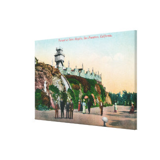 View of the Parapet at Sutro Heights # 2 Stretched Canvas Print