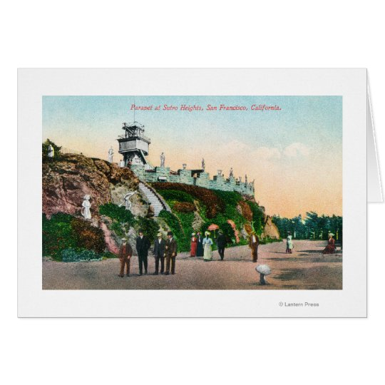 View of the Parapet at Sutro Heights # 2 Card