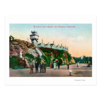 View of the Parapet at Sutro Heights # 2 Postcard