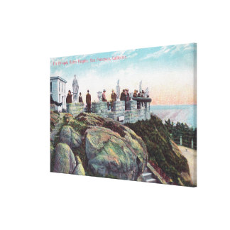 View of the Parapet at Sutro Heights Canvas Print