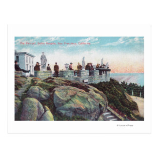View of the Parapet at Sutro Heights Postcard