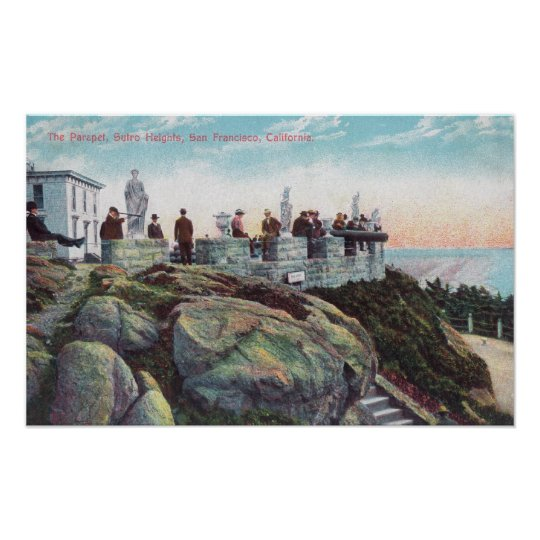 View of the Parapet at Sutro Heights Poster