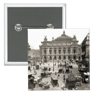 View of the Paris Opera House, 1890-99 Button