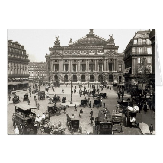 View of the Paris Opera House, 1890-99 Card