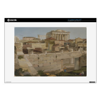 """View of the Parthenon from the Propylaea, plate 7 15"""" Laptop Decals"""