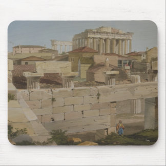 View of the Parthenon from the Propylaea, plate 7 Mouse Pad