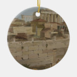 View of the Parthenon from the Propylaea, plate 7 Christmas Tree Ornament