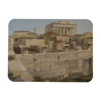 View of the Parthenon from the Propylaea, plate 7 Rectangular Magnets