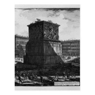 View of the pedestal of the Apotheosis of Antoninu Postcard