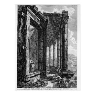 View of the Peristyle and the Door of the Temple o Postcard