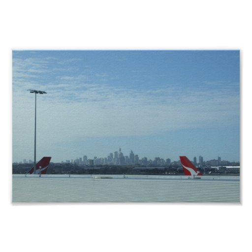 View Of The Perth City From Airport Posters