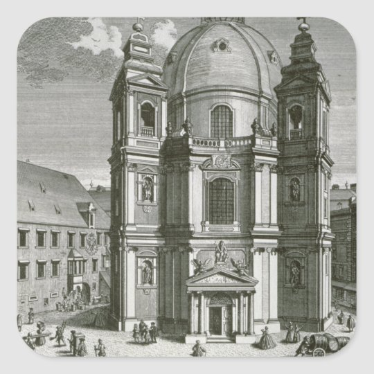 View of the Peterskirche Square Sticker