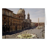 View of the piazza greeting card