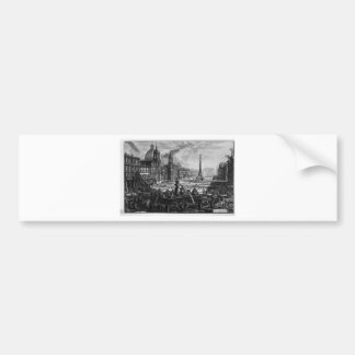 View of the Piazza Navona on the ruins Car Bumper Sticker