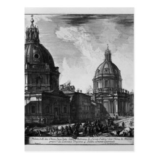View of the Piazza Navona on the ruins Postcard
