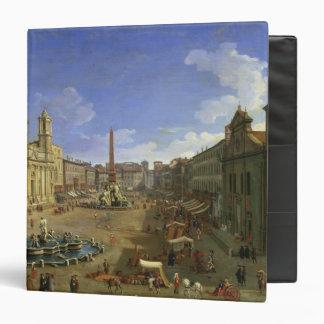 View of the Piazza Navona, Rome Vinyl Binder