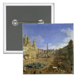 View of the Piazza Navona, Rome Button