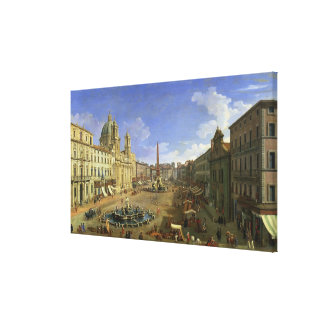 View of the Piazza Navona, Rome Canvas Print