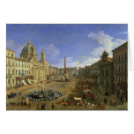 View of the Piazza Navona, Rome Card