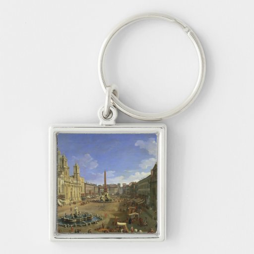 View of the Piazza Navona, Rome Keychain