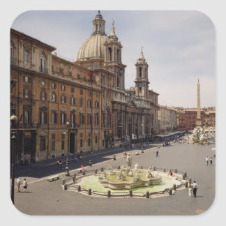 View of the piazza square sticker