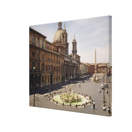View of the piazza stretched canvas print