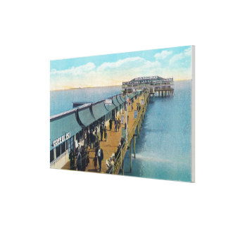 View of the Pier Canvas Print