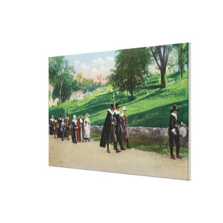 View of the Pilgrim Procession Canvas Print