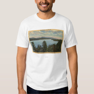 View of the Pine Clad Shores of Lake T-shirt