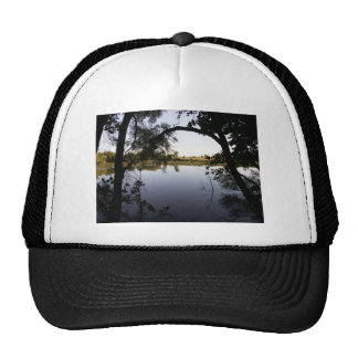 View of the pond trucker hats
