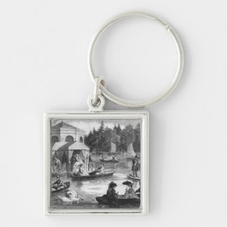 View of the pond of the Court at Fontainebleau Key Chain