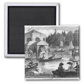 View of the pond of the Court at Fontainebleau Magnets