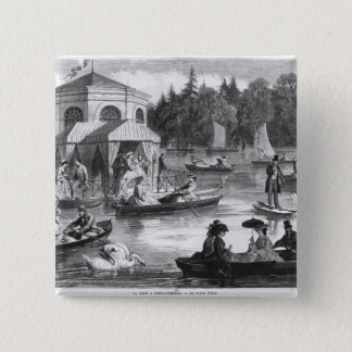 View of the pond of the Court at Fontainebleau Pinback Button