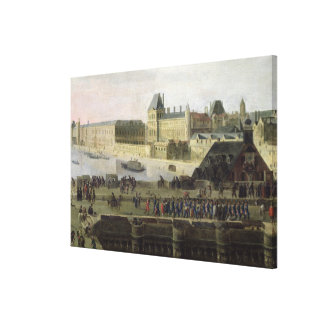 View of the Pont-Neuf and the River Seine Canvas Print