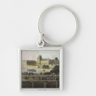 View of the Pont-Neuf and the River Seine Silver-Colored Square Keychain