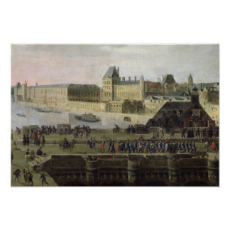 View of the Pont-Neuf and the River Seine Poster