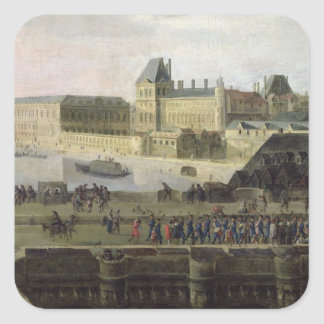 View of the Pont-Neuf and the River Seine Square Sticker