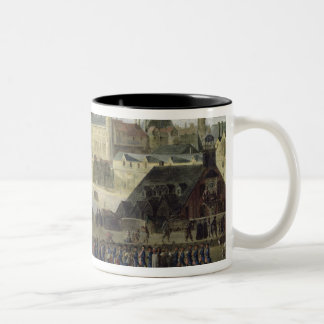 View of the Pont-Neuf and the River Seine Two-Tone Coffee Mug