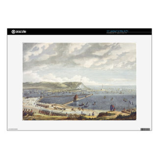 "View of the Port and the Roadstead of Boulogne at 15"" Laptop Decal"