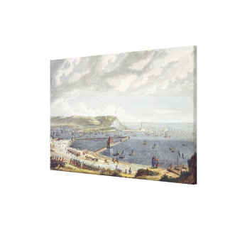 View of the Port and the Roadstead of Boulogne at Canvas Print